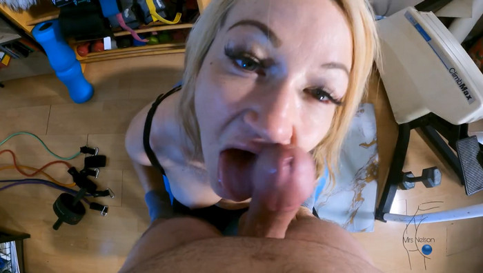 MrsNelson – My Step Mom Entices Me to Work Out